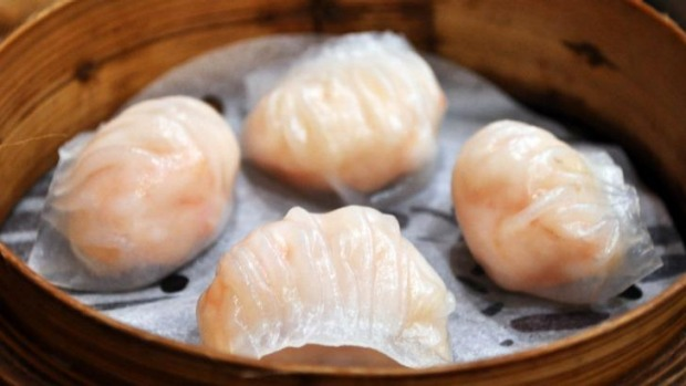 Pleated perfection: The prawn har gao.