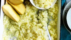 Pineapple and lime granita.