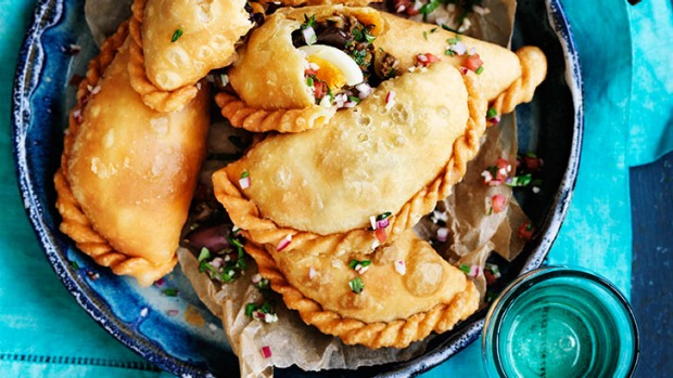 Tasty dinner or party idea: Beef and egg empanadas.