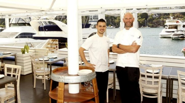Waterfront dining: Chiosco by Ormeggio chefs Victor Moya (left) and Alessandro Pavoni.