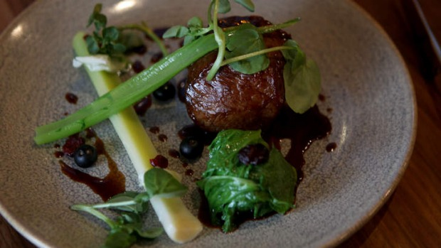 A venison dish at The Rose Upstairs, Fitzroy.