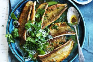 Pan-fried whiting