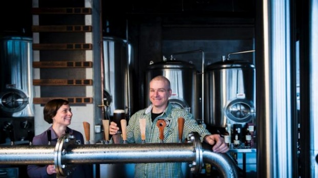 Ahead of the game: Tracy Margrain and Richard Watkins of BentSpoke Brewing Co.