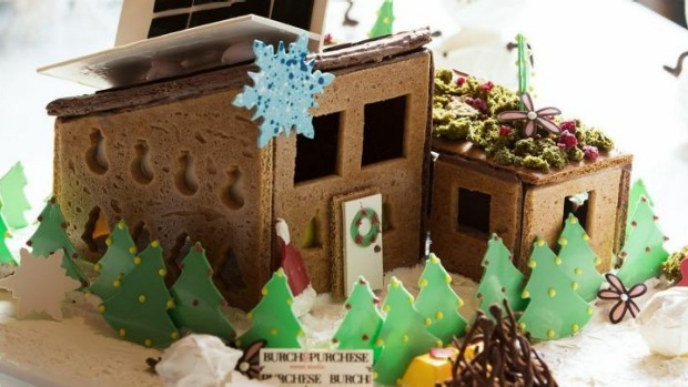 Mod cons:  Darren Purchese's gingerbread house.