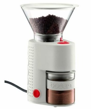 Lightweight: Bodum Bistro electric grinder.