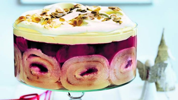 Christmas fare with a twist: Plum pudding trifle.
