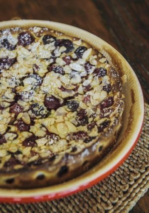 French cherry clafoutis: A lovely summer dessert.