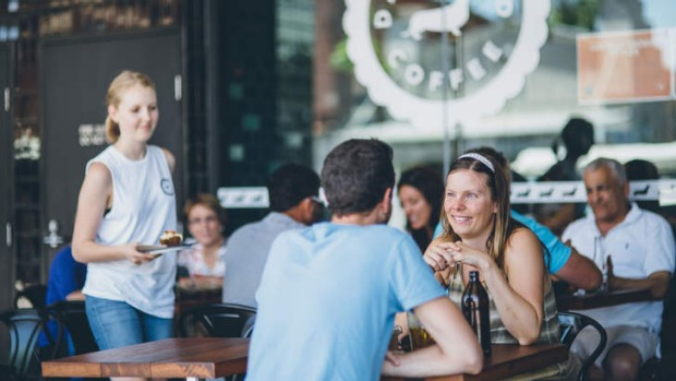 Patrons enjoy brunch at The Dachshund in Hunters Hill.