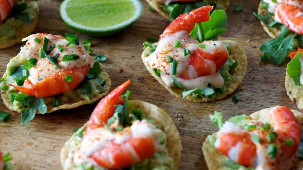 Prawn cocktail canapes recipe good food for Hot canape ideas
