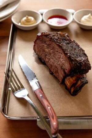 Smoking: Beef short rib from LP's Quality Meats, Chippendale.