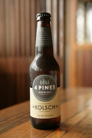 Kolsch is 4 Pines' version of a Cologne beer style.
