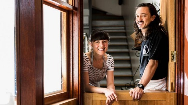 Expansion plans: Bakers Kate Reid and Cameron Reid at their Elwood hole-in-the-wall.