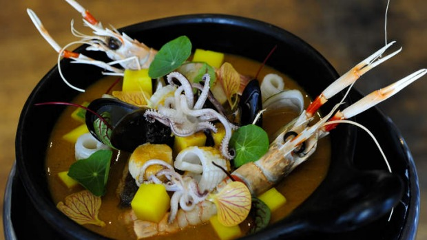 Bouillabaisse and sauce rouille.