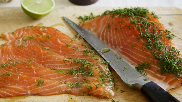Curing salmon is simple and the addition of herbs makes the flavour even better.
