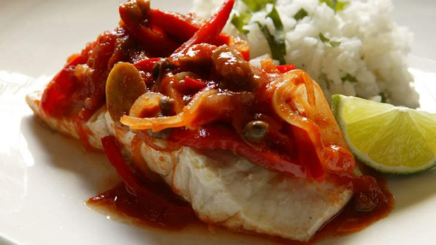 Taste sensation: Mexican baked fish with chilli and lime.