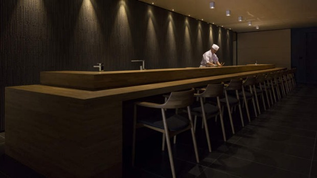 Perch at the bar and be mesmerised by the chefs' knife skills.