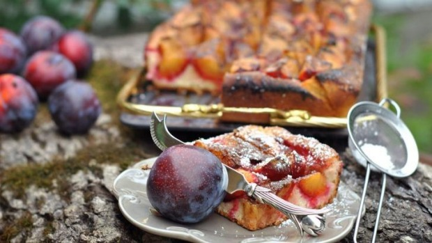 Summer delight: Plums make a great dessert, such as this plum clafoutis.