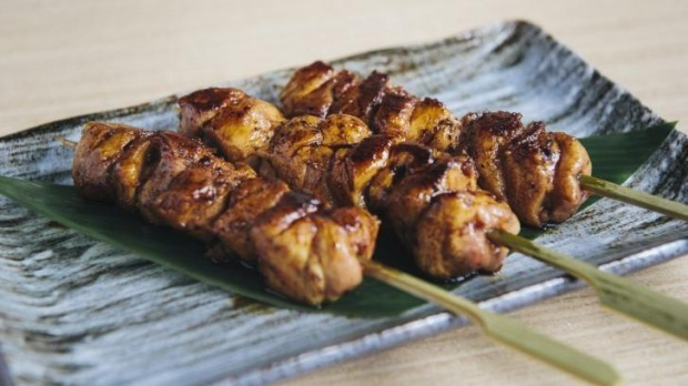 Chicken thigh skewers with homemade yakitori sauce