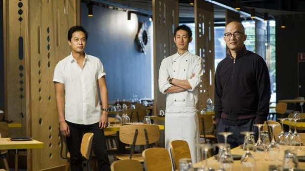 Lilotang reality: Manager Po Yang Chia, head chef Shunsuke Ota and owner Josiah Li.