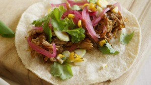 Mexican-style slow-cooked pork.