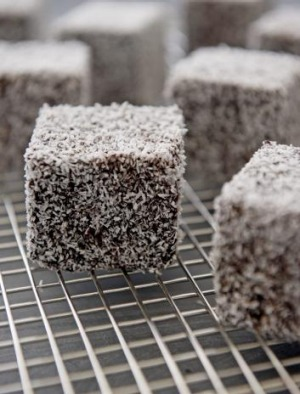 La Madre's double-choc lamingtons.