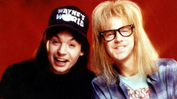 Inspiration ... Mike Myers and Dana Carvey in a promotional picture for Wayne's World.