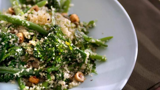 Green bean and broccolini tabbouleh