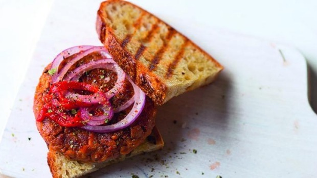 Use tempeh, miso and spices to interpret the flavours of chorizo for this patty.