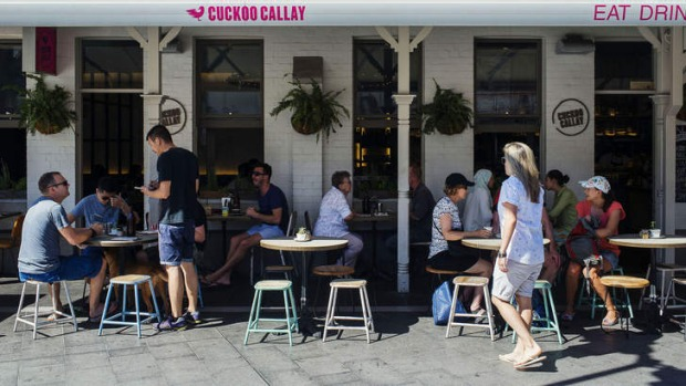 The alfresco seating at Cuckoo Callay is a perfect perch for people-watching.