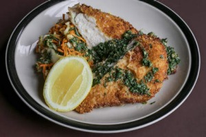 Chicken schnitzel at Marquis of Lorne.