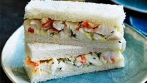 Lobster sandwiches for Valentine's.