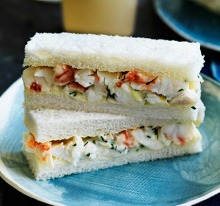 These delicate lobster sandwiches pair perfectly with Neil Perry's peach cocktails.