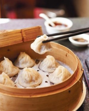 The signature xiao long bao at HuTong.