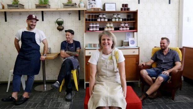 Collective cooks: Alex Paduano from The Jam Bandits, Stuart Masters from Miss Lilly's Kitchen, Libby Marriner from ...