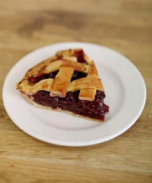 Sour cherry and cinnamon pie from Miss Lilly's Kitchen.