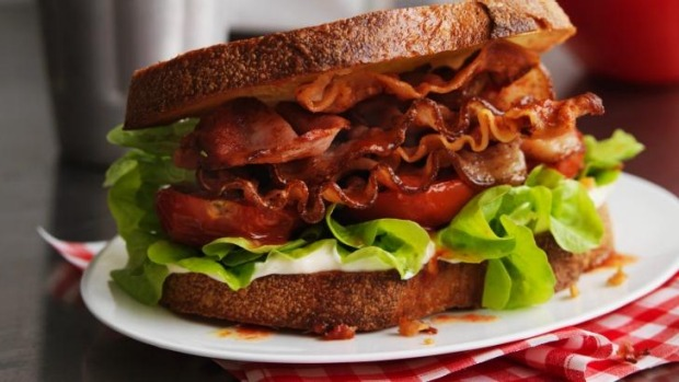 Bad combo: Bacon and white bread.