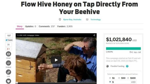 The Flow Hive campaign went live about 11.15am (AEST) on February 23rd.