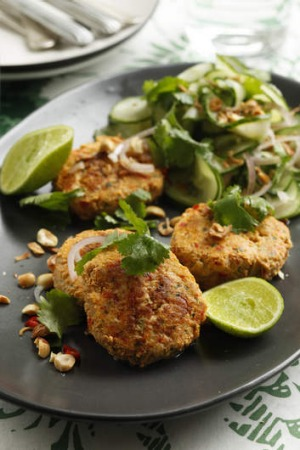 Thai Fishcakes With Cuber Salad