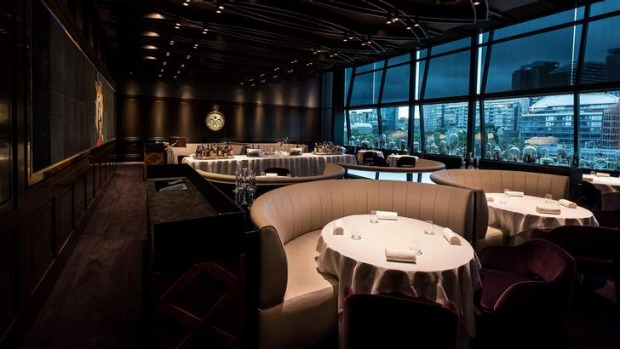 Inside the Fat Duck Melbourne dining room.