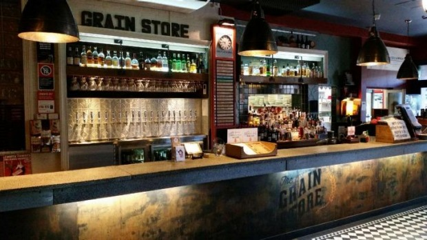 The Grain Store, Newcastle East. Once a warehouse for Tooheys, now a cafe for craft beer.
