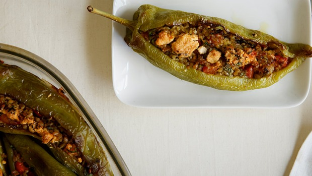 Make a meal of a stuffed vegetable! Use bullhorn chillies or red capsicums.