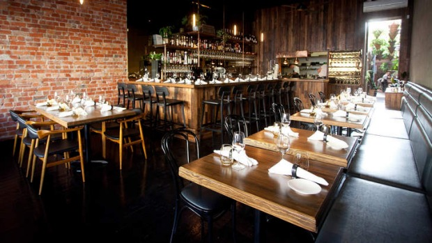 Estelle Bistro's new fitout is reminiscent of a Brooklyn steakhouse.