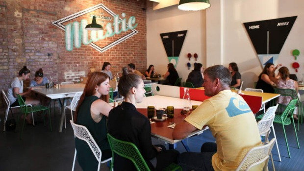 Healthy appetite: Inside Mastic wholefoods cafe.