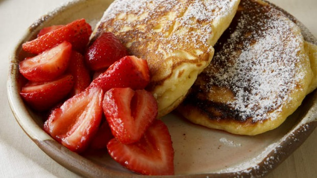 Try a different twist on breakfast: Ricotta pancakes.