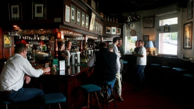 Luck of the Irish: Irish beer at an English-style watering hole - the Lord Dudley.