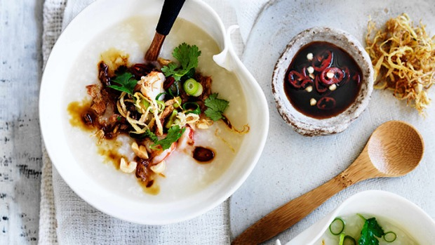 Prawn and ginger congee recipe good food asian porridge congee is a bowl of comfort forumfinder Gallery