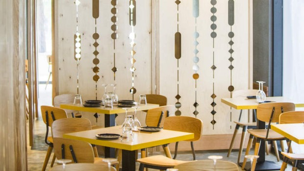 Movable partitions create semi private dining rooms at Lilotang.