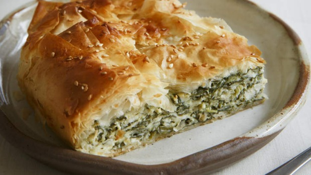 Simply delicious: Traditional Greek spanakopita.