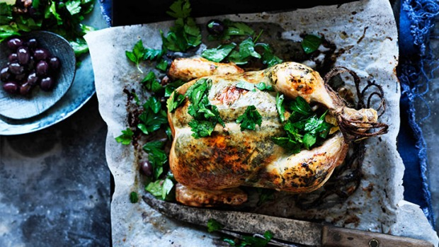 Simply sensational roast tarragon chicken: Centrepiece for a lovely lunch or family dinner.
