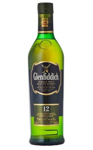 Glenfiddich 12yo single malt.